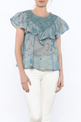Champagne & Strawberry Serenity Blouse