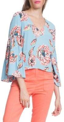 Plenty by Tracy Reese Three-Quarter Flounce Sleeve Top