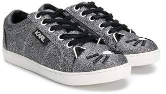 Karl Lagerfeld Paris cat toe sneakers