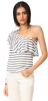 Splendid One Shoulder Top with Ruffle $108 thestylecure.com