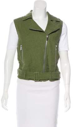 Elizabeth and James Linen Moto Vest