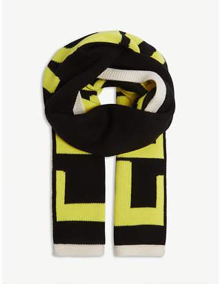 Fendi Neon logo scarf