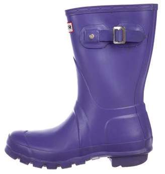 Hunter Rubber Round-Toe Rain Boots