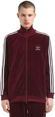adidas Cotton Blend Velour Track Jacket