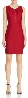 Elie Tahari Jadea Sleeveless Pleat-Neck Dress