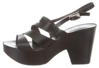 Robert Clergerie Leather Slingback Sandals