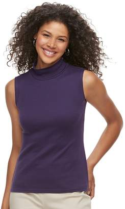 Croft & Barrow Women's Mockneck Sleeveless Top
