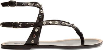 ISABEL MARANT Audrio stone-embellished sandals $810 thestylecure.com