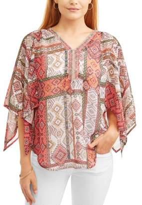 Lifestyle Attitude Women's Kimono Sleeve Blouse