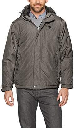U.S. Polo Assn. Mens Standard Sherpa Lined Hooded Windbreaker
