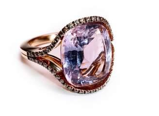 Olivia Grace Moritz Amethyst And Cognac Diamond Ring