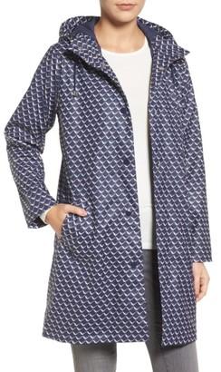 Women's Joules Right As Rain Longline Waterproof Hooded Coat $159.95 thestylecure.com