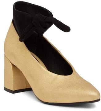 Cecelia New York Brenda Leather & Suede Block Heel Pump