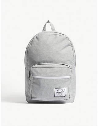 Herschel Light Grey Crosshatch Woven Pop Quiz Backpack