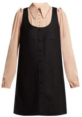 No.21 No. 21 - Layered Pinafore Dress - Womens - Black Multi