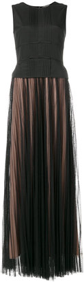 Twin-Set pleated full length dress $346.11 thestylecure.com