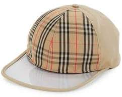 Burberry Clear Brim Check Baseball Cap