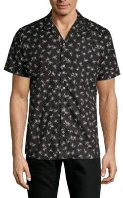 Slate & Stone Palm Tree Print Short-Sleeve Camp Shirt
