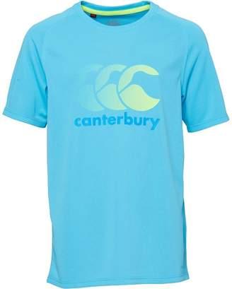 Canterbury of New Zealand Junior Boys VapoDri Large Logo Poly Top River Blue