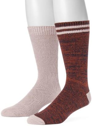 Muk Luks Men's 2-pack Yarn Boot Socks