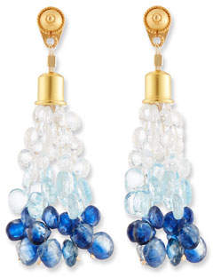 Dina Mackney Ombre Stone Briolette Dangle Earrings
