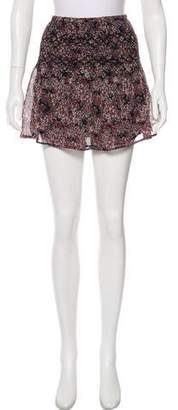 Ulla Johnson Silk Floral Mini Skirt