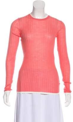 Diane von Furstenberg Rib Knit Long Sleeve Top