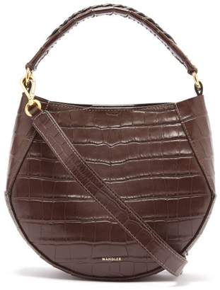 e30f8dff3a6 Wandler - Corsa Mini Python Effect Leather Tote - Womens - Dark Brown