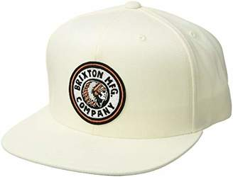696d5914 Brixton Men's Rival Medium Profile Adjustable Snapback Hat