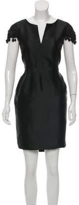 Valentino Embellished Sheath Dress Black Embellished Sheath Dress