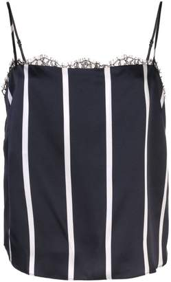 Fleur Du Mal striped square neck lace cami