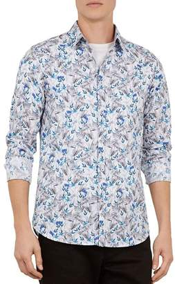 3234866f7 Ted Baker Thefern Floral Slim Fit Button-Down Shirt