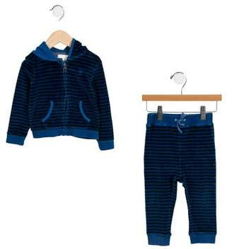 Burberry Boys' Striped Velour Pant Set