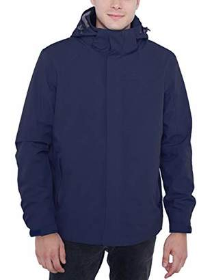 Lumberfield 3-in-1 Hooded Jacket for Men Climbing Windproof Shell with Down Liner XXL