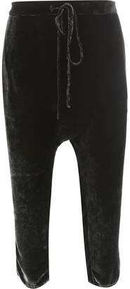 Masnada cropped drawstring trousers
