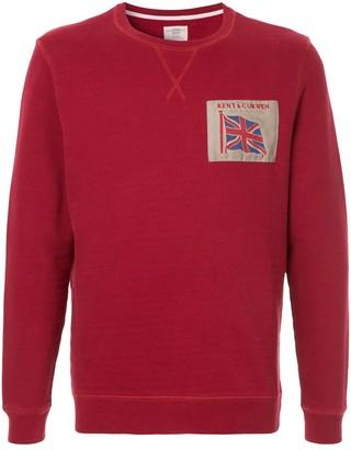 Kent & Curwen embroidered flag sweatshirt