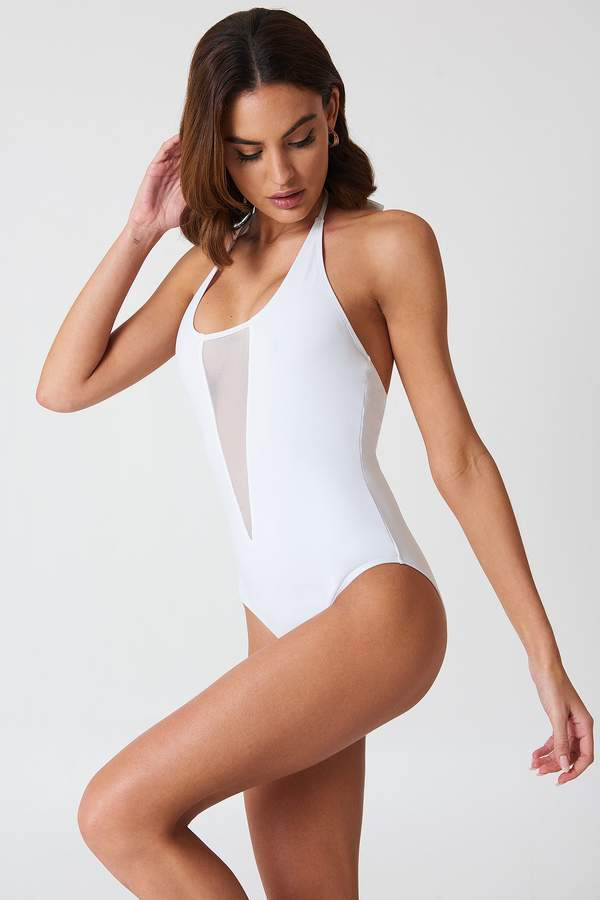 Kos Mesh Swimsuit White