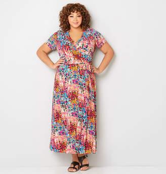 Avenue Multi-color Abstract Maxi Dress