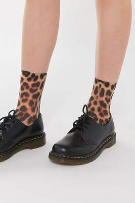 Urban Outfitters Animal Print Knit Crew Sock