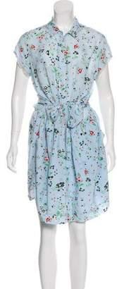 Zadig & Voltaire Short Sleeve Floral Print Dress
