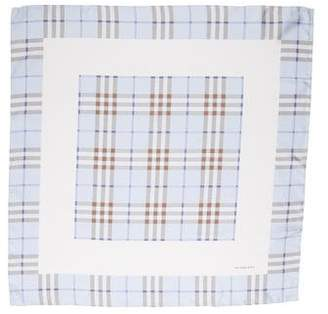 Burberry Plaid Silk Scarf w/ Tags