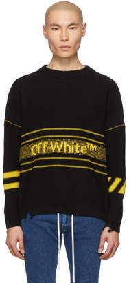 Off-White Off White Black and Yellow Logo Sweater