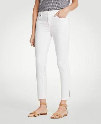 Ann Taylor Tall Modern Ankle Tie Skinny Crop Jeans
