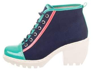 Opening Ceremony Canvas Ankle Booties