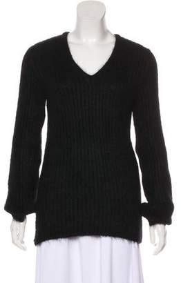 CNC Costume National V-Neck Mohair-Blend Sweater