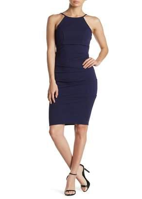 Jump Ruched Crepe Sheath Dress