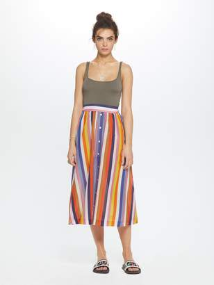 Xirena XiRENA Teagan Roman Cotton Silk Skirt - Aventine