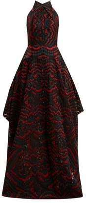 Roland Mouret Evans halter-neck jacquard gown