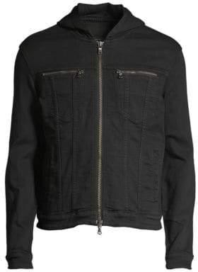 John Varvatos Hooded Jean Jacket