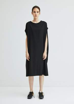 Y's Short Sleeve Wool Gabardine Dress